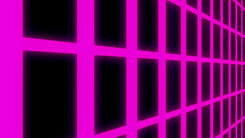 Endless Violet Glowing Vertical Grid Retro Abstract Motion Background Loop Slow Animation
