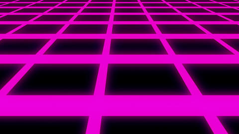 Endless Violet Glow Horizontal Grid Retro Abstract Motion Background Loop Slow Animation