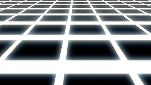 Endless White Glowing Horizontal Grid Retro Abstract Motion Background Loop Slow Animation