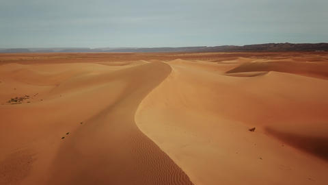 Aerial view on sand dunes in Sahara desert, Africa Footage