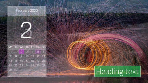 Slideshow calendar After Effects Template