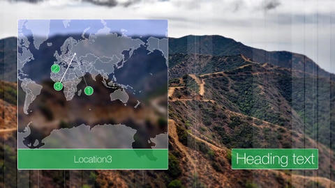 Slideshow map lines After Effects Template