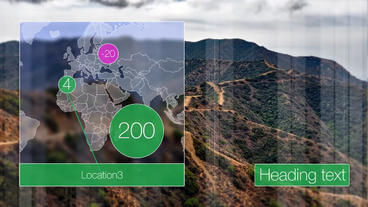 Slideshow map diagram After Effects Template