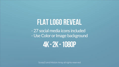 Flat Logo 4k After Effects Template