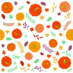 Thanksgiving autumn seamless background Vector