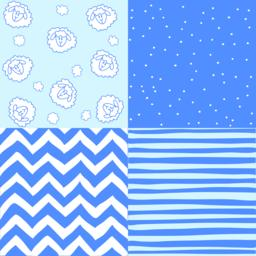 Seamless blue baby patterns ベクター
