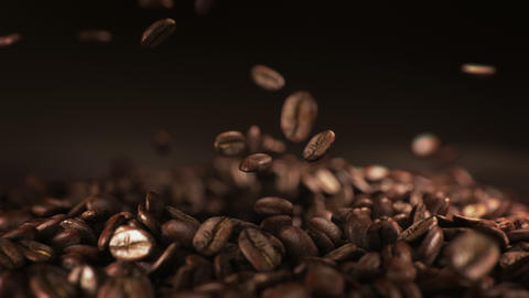 Exploding coffee beans in real super slow motion Acción en vivo