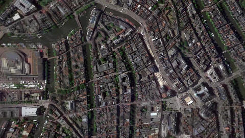 Earth Zoom In Zoom Out Amsterdam Netherlands Footage