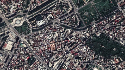 Earth Zoom In Zoom Out Bucharest Romania Footage