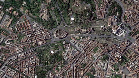 Earth Zoom In Zoom Out Colosseum Rome Italy Footage