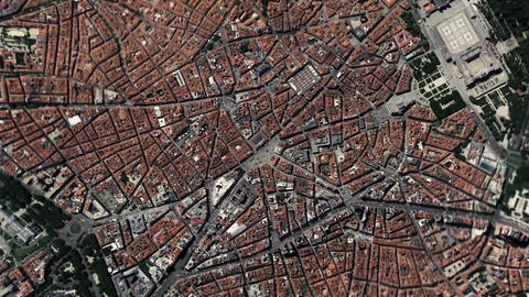 Earth Zoom In Zoom Out Madrid Spain Footage