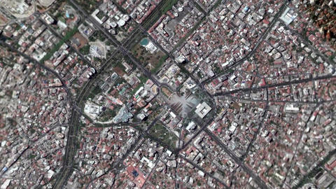 Earth Zoom In Zoom Out Tirane Albania Footage