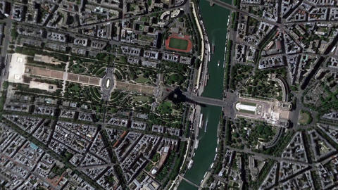 Earth Zoom In Zoom Out Tour Eiffel Paris France Footage
