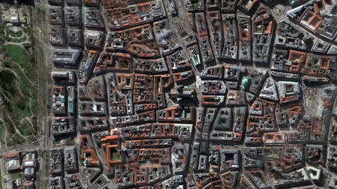 Earth Zoom In Zoom Out Wien Austria Footage