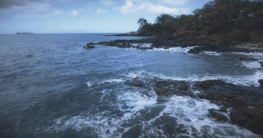 Flying over the Maui Coastline Footage