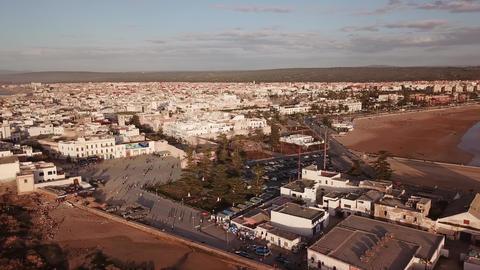 Aerial panorama of medieval Essaouira old city Footage