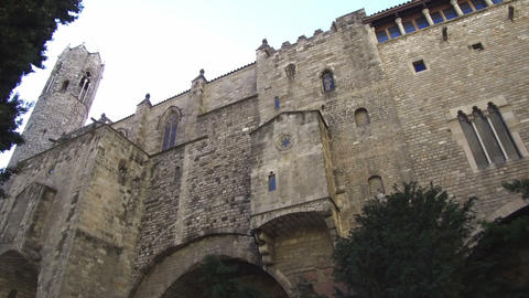 Ancient Barcelona, Gothic Quarter Footage