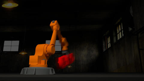 Robot arm Stock Video Footage