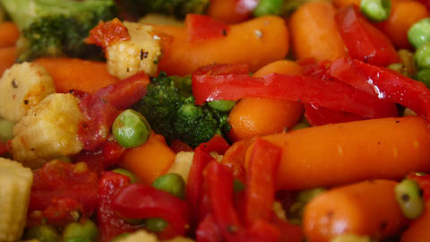 Close-up of roasting vegetables Footage