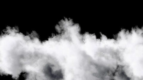 Flying Through Clouds isolated on black with alpha matte Animation