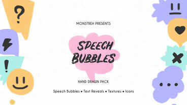 Speech Bubbles. Hand Drawn Pack Premiere Pro Template