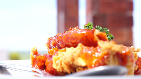 Crispy fried chicken, Live Action