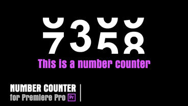 Rolling Counter [Counter02] Premiere Pro Template