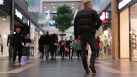 Time lapse of people at shopping mall Footage