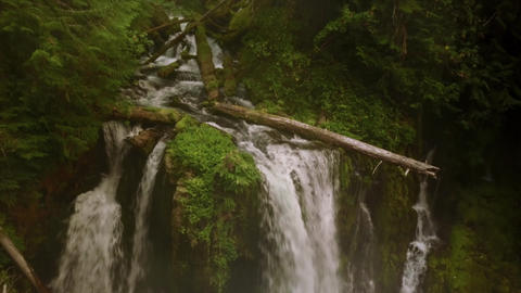 Aerial Shot Of A Waterfall In Oregon Footage