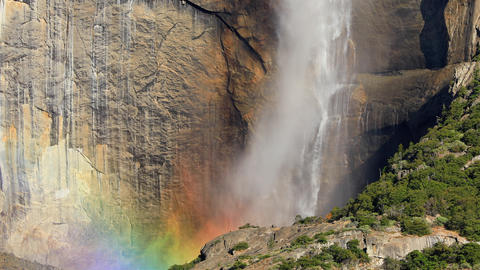 Yosemite Falls at Yosemite National Park Footage