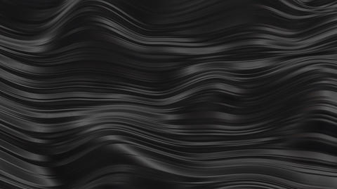 Abstract black rubber waves Animation