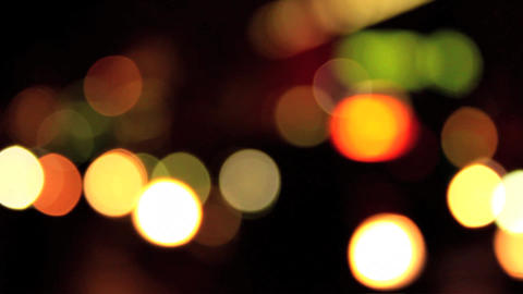 Out of focus blurry lights bokeh created from traffic in London Footage