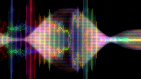 Digital Noise Equalizer Spectrum Glitch Abstract Background Animation