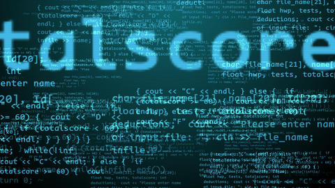 Multidimensional Coding Program With Texts Animation