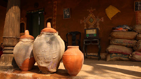 Pots in rural house Live Action
