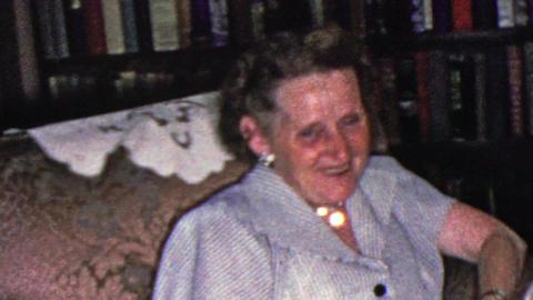 1961: Grandma drunk laughs cries loves overwhelmed with joy Footage
