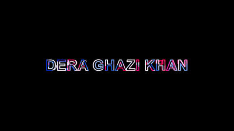 Letters are collected in city DERA GHAZI KHAN, then scattered into strips. Alpha Animation
