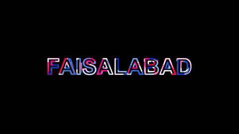 Letters are collected in city FAISALABAD, then scattered into strips. Alpha Animation