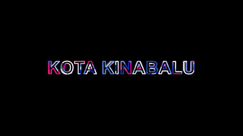 Letters are collected in city KOTA KINABALU, then scattered into strips. Alpha Animation