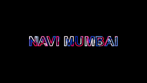Letters are collected in city NAVI MUMBAI, then scattered into strips. Alpha Animation
