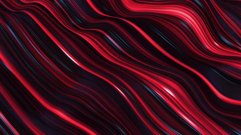 abstract red neon wave line filed Animation