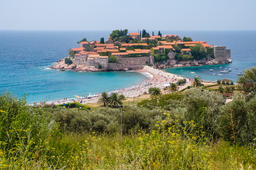 Sveti Stefan island, Montenegro Photo