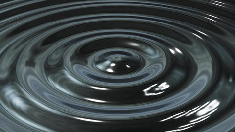 Abstract loop ripple metal 3d wave Animation