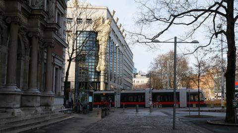 University building in Vienna, Austria ビデオ
