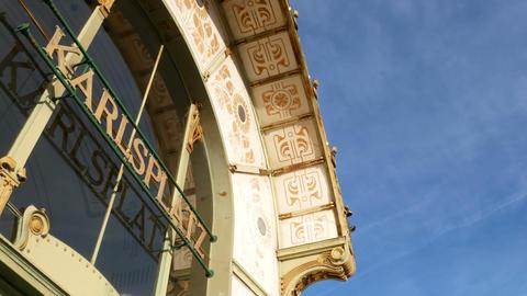Karlsplatz Stadtbahn Station designed by designer Otto Wagner Jugendstil period Live Action