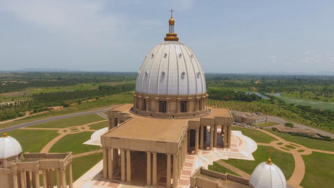Yamoussoukro, Ivory Coast - Famous landmark Basilica of our Lady of Peace, Footage
