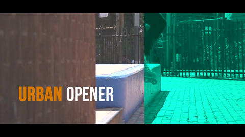 Urban Opener After Effectsテンプレート