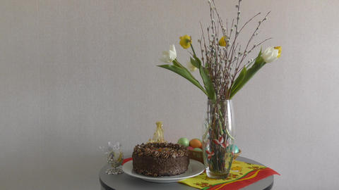 Easter table for the festive day 영상물