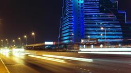 Traffic in Shaik Hamad Causeway Timelapse Bahrain Tilt Up Footage