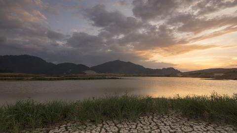 Timelapse scenic view of Mengkuang dam Live Action